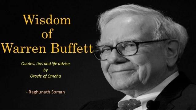 Wisdom of Warren Buffett