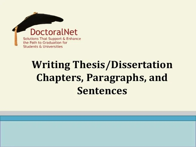 chapters thesis phd How to write a phd thesis in some cases, one or two of them may be irrelevant results and discussion are usually combined in several chapters of a thesis.