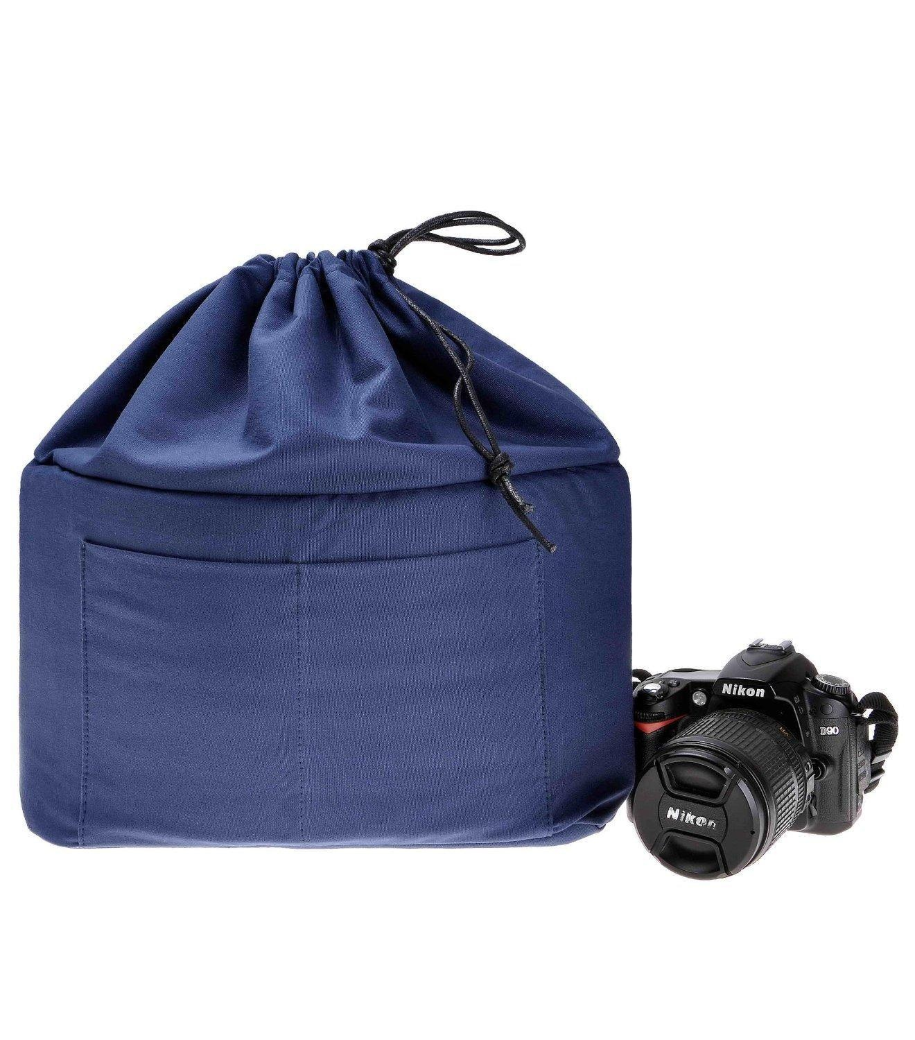 Unique Zlyc Cotton Drawstring Shockproof Dslr Slr Camera Bag Partition Padded Camerainsert Protective Case Lens Pouch Online Zlyc Cotton Drawstring Shockproof Dslr Slr Camera Bag dpreview Camera Bag Insert