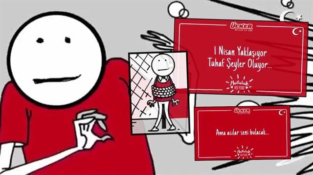 Ülker'in 1 Nisan şakası konulu reklam filmi içerdiği mesajlardan dolayı kamuoyunda büyük tepki görünce yayından kaldırıldı.