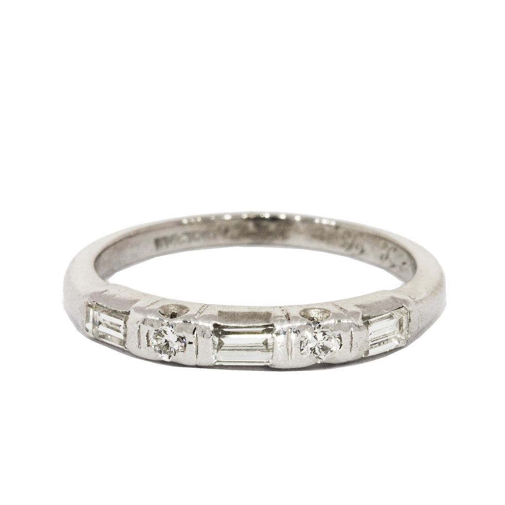 baguette wedding rings vintage wedding band Displaying 19 Images For Baguette Cut Diamond