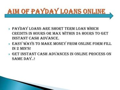 PPT - Instant Payday Loans Online on Same Day PowerPoint Presentation - ID:3314512