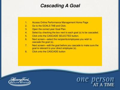 PPT - Goal Setting Tool Kit Linking Individual Performance to Organizational Goals PowerPoint ...