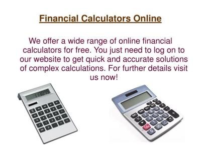 PPT - Mortgage Payment Calculators PowerPoint Presentation - ID:7122799