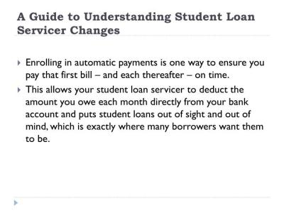 PPT - Study Loan: A Guide to Understanding Student Loan Servicer Changes PowerPoint Presentation ...
