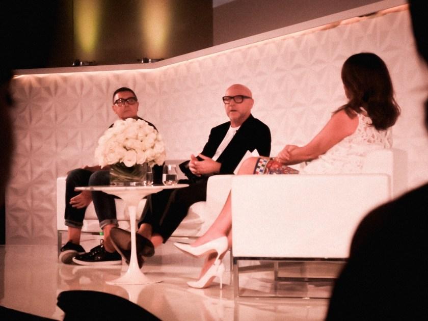 IA UPDATE Domenico Dolce & Stefano Gabbana, Dolce & Gabbana's Italian Journe with Alexandra Shulman at Vogue Festival 2016 by Troy Wise & Rick Guzman. www.imageamplified.com, Image Amplified (2)