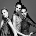 CAMPAIGN: Cindy Bruna, Devon Windsor & Noemie Lenoir for Balmain Hair Couture Spring 2016