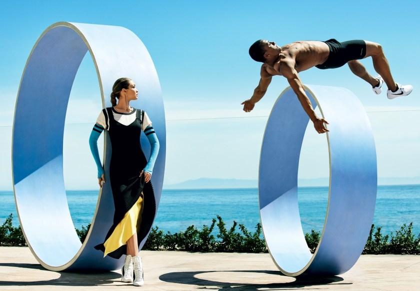VOGUE MAGAZINE Gigi Hadid & Ashton Eaton by Mario Testino. Tonne Goodman, August 2016, www.imageamplified.com, Image Amplified3