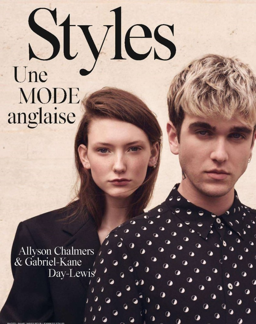 L'EXPRESS STYLES FRANCE Allyson Chalmers & Gabriel-Kane Day-Lewis by Rahel Weiss. Barbara Loison, Fall 2016, www.imageamplified.com, Image amplified (1)