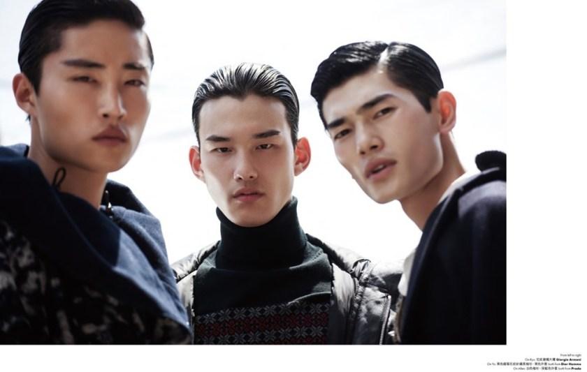 ELLE MAN HONG KONG Allen ye, Ryu Wankyu & Yo Baek Lee by Brent Chur. Jungle Lin, October 2016, www.imageamplified.com, Image Amplified5