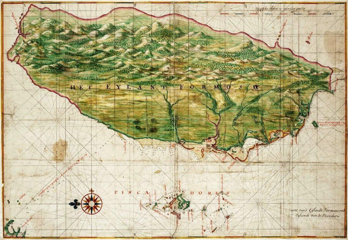 1640_Map_of_Formosa-Taiwan_by_Dutch_荷蘭人所繪福爾摩沙-臺灣