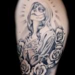 Imágenes de la santa muerte para tatuar (10)