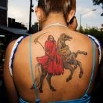 imagenes de la santa muerte en caballo (5)
