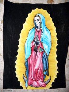 imagenes de la santa muerte en dibujo (7)