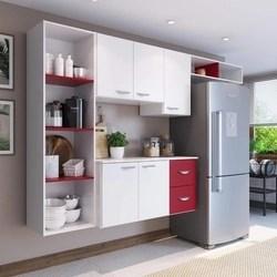 Cozinha Compacta 4 Peças 5 Portas Anabela Yescasa Branco/Vinho