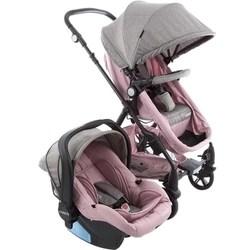 Carrinho de Bebê Travel System Poppy Duo Rosa Mescla com Bebê Conforto - Cosco