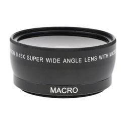 Lente Grande Angular 55mm 0.45x com macro para câmera Sony Canon Nikon