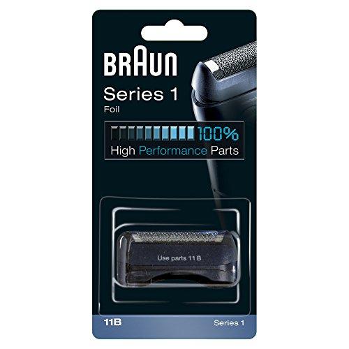 Braun 11B - Recambio para afeitadora eléctrica, compatible con afeitadoras Series 1, color negro