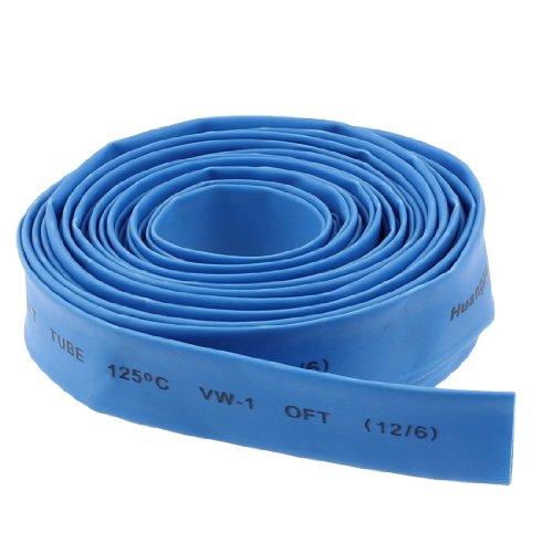 uxcell 熱収縮チューブ 12mm 2:1 熱収縮 チューブ ブルー シュリンク 手作り