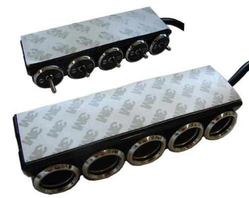 カシムラ 分配器 セパレートスイッチ5連ソケット KX-146