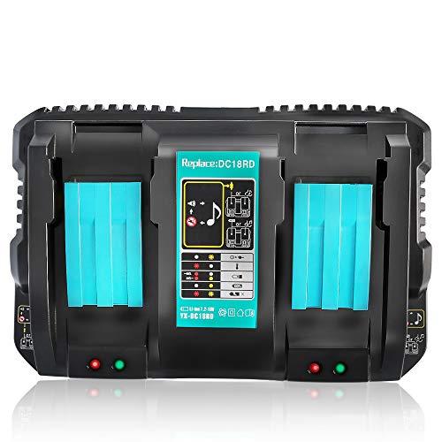 Ybang マキタ DC18RD 互換充電器 2口充電器 マキタ 14.4V/18Vリチウムイオンバッテリ 対応 BL1430 BL1440 B...