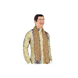 PPAP ピコ太郎 本物そっくり ヒョウ柄 コスチューム 豪華4点セット 衣装 上下セット+サングラス 忘年会 新年会 余興 パーティー