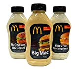 【Amazon.co.jp限定】マクドナルドのソース3本セット ビッグマックソース フィレオフィッシュソース マックチキンソース [並行輸入品]