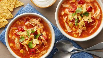 Slow-Cooker Chicken Tortilla Soup Recipe - BettyCrocker.com