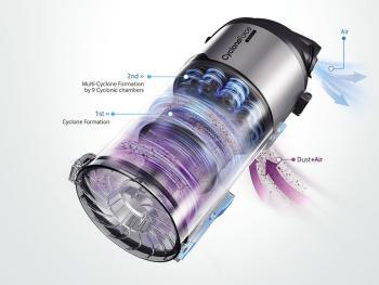 Samsung VU12F70SHAF Motion Sync Bagless Upright Vacuum