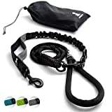 FLASH SALE   Heavy Duty Rope Leash for Large and Medium Dogs with Anti-pull Bungee for Shock Absorption - No Slip Reflective Leash for Outside – Suitable for Dog Training and Walking (Black)