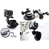 Perfect Suction Mount for your Car Cam What use is a great GoPro or SJCam or any if it doesn't have a great stand to go with it? Great driving action cameras need great mounts that reduce vibrations and allow stable images and videos. SublimeWare suc...