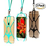 Cell Phone Lanyard TOOVREN Silicone Lanyard Holder Smart Phone Case Cover with Detachable Necklace Wrist Strap for iPhone X 6 6s 7 Plus 8 8 Plus Samsung Galaxy s8 s6 s7 S8 Note 8 5 LG g4 g3 g2 (2 PCS)