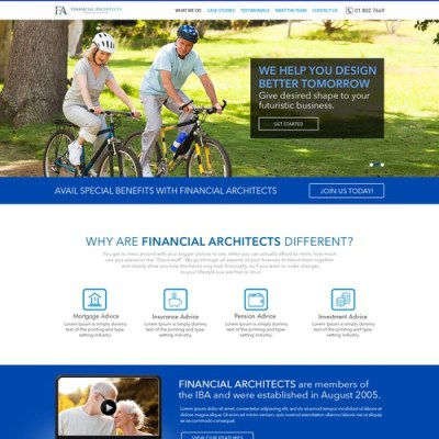 Lifestyle financial planning website needed | Web page ...