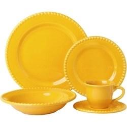 Aparelho De Jantar Poá 20 Peças Amarelo - La Cuisine