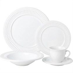 Aparelho De Jantar Veneza 20 Peças Branco - La Cuisine Basics