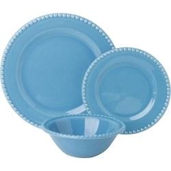 Aparelho De Jantar Poá 18 Peças Azul Piscina - La Cuisine