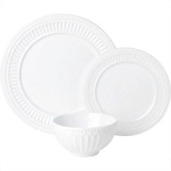 Aparelho De Jantar Veneza 18 Peças Branco - La Cuisine Basics