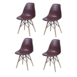 Conjunto 4 cadeiras Eames Nude Travel Max