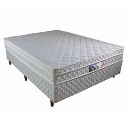 Cama Box Casal + Colchão Molas Ensacadas e Pillow Revolution 138x188x58cm Branco - Rifletti