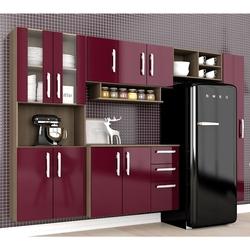 Cozinha Compacta Mayara 5 Peças Terraro/fucsia - At Home