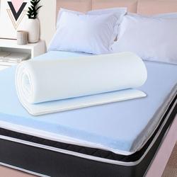 Pillow Top Casal Espuma Da Nasa Viscoelástico Extra Conforto Maciez 4cm BF Colchão