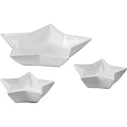 Conjunto de Petisqueira Estrela 3 pçs Branca - La Cuisine Basics