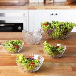 Conjunto de Saladeira de Vidro Rattan 7 Peças - La Cuisine