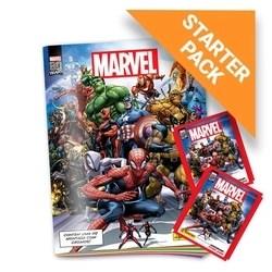 Kit Marvel 80 Anos - Álbum Capa Cartão + 12 envelopes