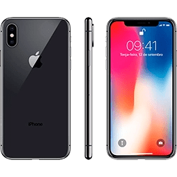 iPhone X Cinza Espacial 256GB Tela 5.8