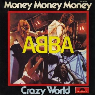 45cat - ABBA - Money, Money, Money / Crazy World - Polydor - Portugal - 2001 696