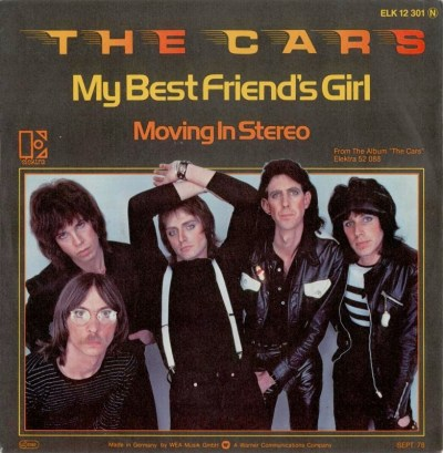 45cat - The Cars - My Best Friend's Girl / Moving In Stereo - Elektra - Germany - ELK 12 301