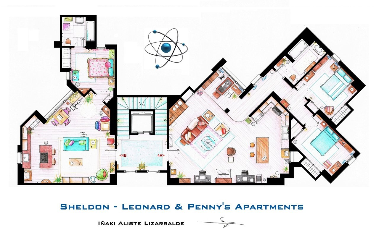 Gorgeous Plan Archdaily Basement Apartment Plans Layouts Apartment Layouts Plan Iaki Aliste Lizarralde From Friends To Famous Tv Shows Rendered apartment Apartment Floor Layout
