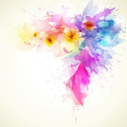 Cute Colorful Flowers Theme Free Vector Download 34760 Free