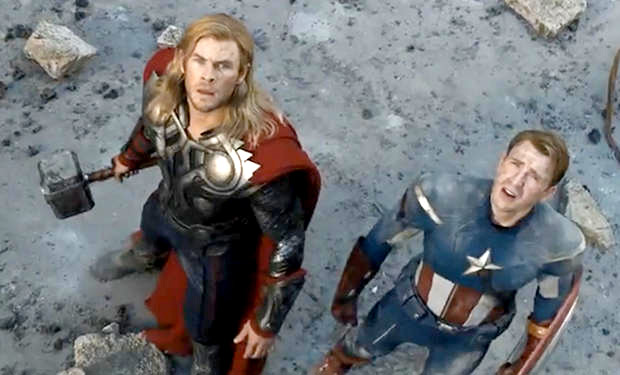 Five questions    The Avengers    didn t answer     IFC Chris Hemsworth and Chris Evans in The Avengers